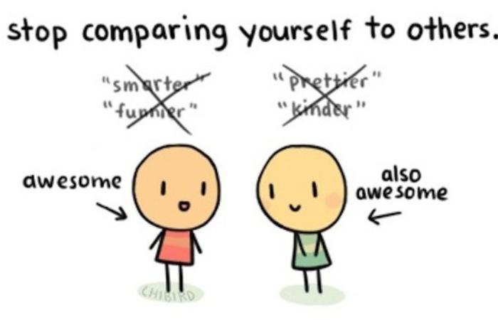 Порівнюйте себе тільки з собою