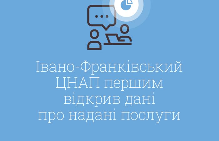 Івано-Франківський ЦНАП перший відкрив дані про надані послуги