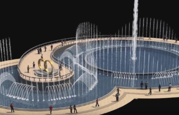 Сучасний фонтан