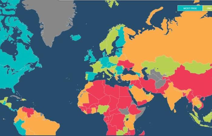 Україна найменш економічно вільна країна Європи