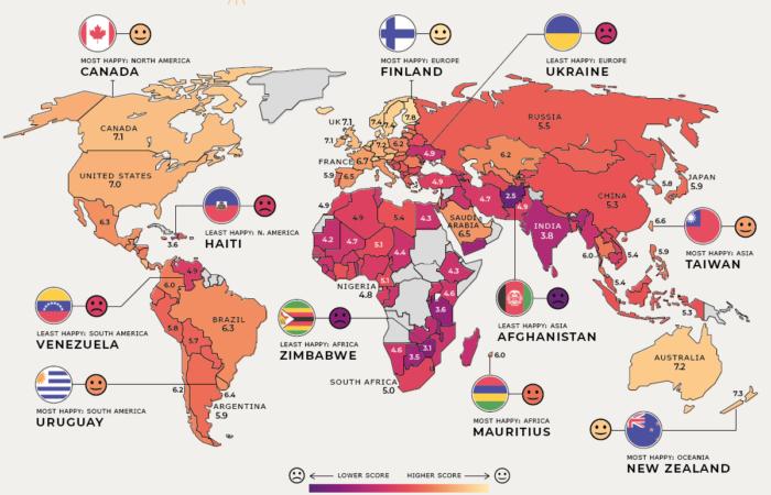Україна перша з кінця за рівнем щастя людей в європейських країнах