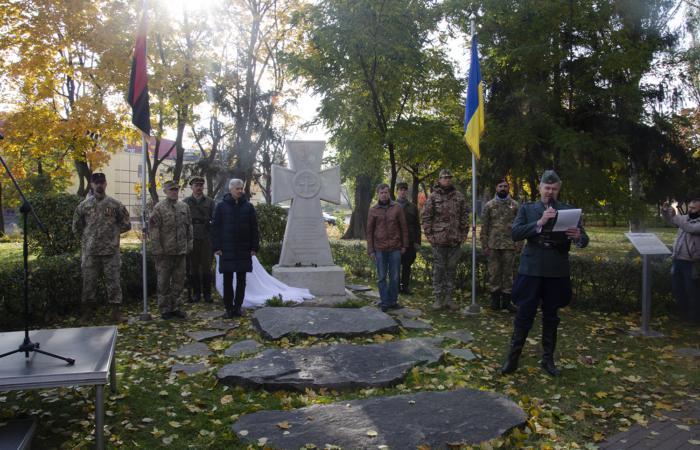 В Києві вперше встановили пам'ятний хрест Бандері